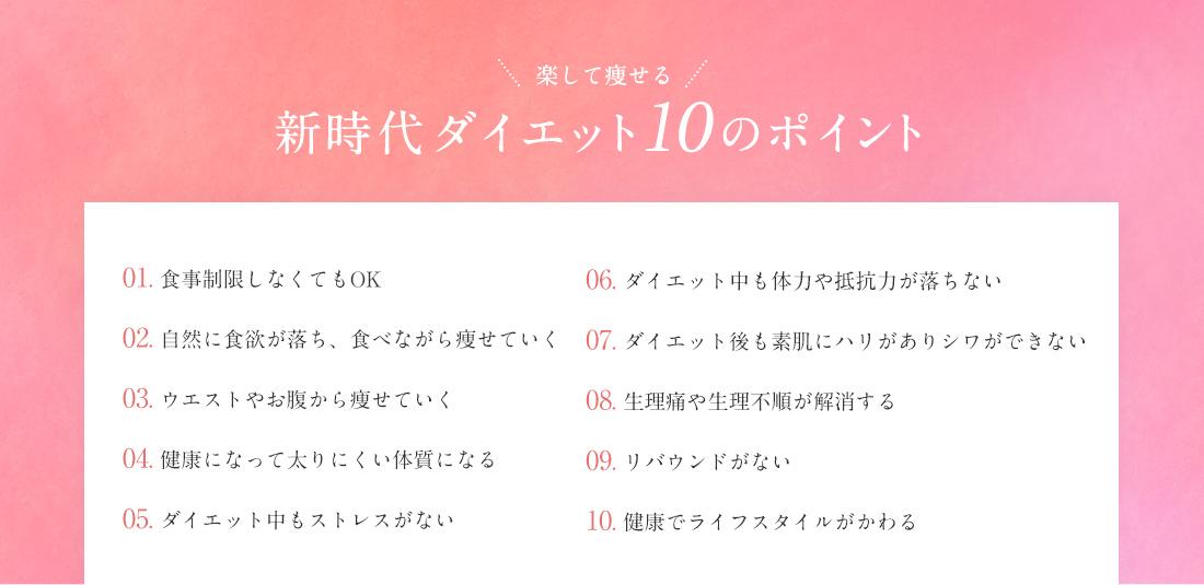 【新時代ダイエット!10のポイント】
